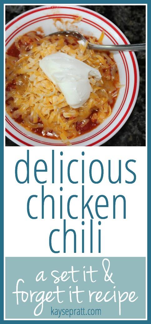 Chicken Chili - KaysePratt.com Pinterest