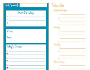 daily schedule teal - kaysepratt.com