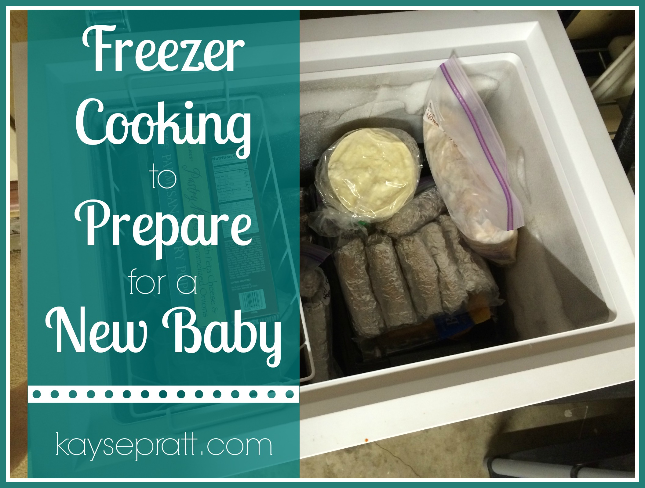 freezer cooking for baby prep