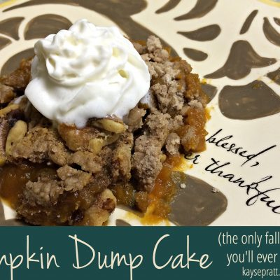 Pumpkin Dump Cake (The only fall dessert you'll ever need)