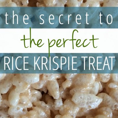 The Secret to the PERFECT Rice Krispie Treat