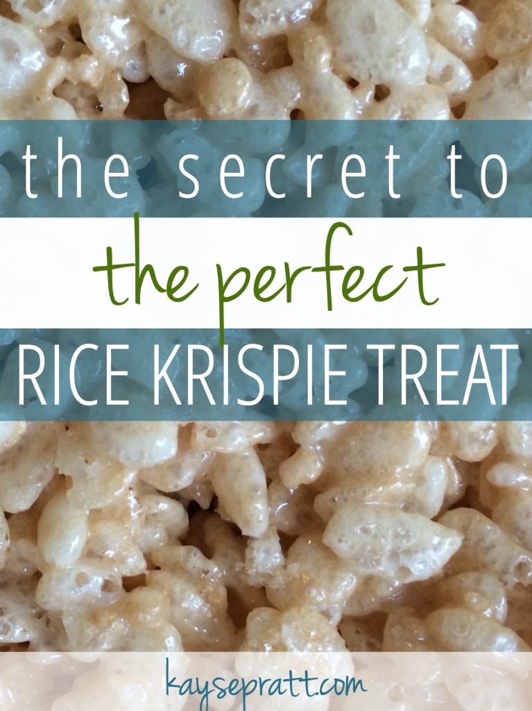 The Secret to the Perfect Rice Krispie Treat - KaysePratt.com