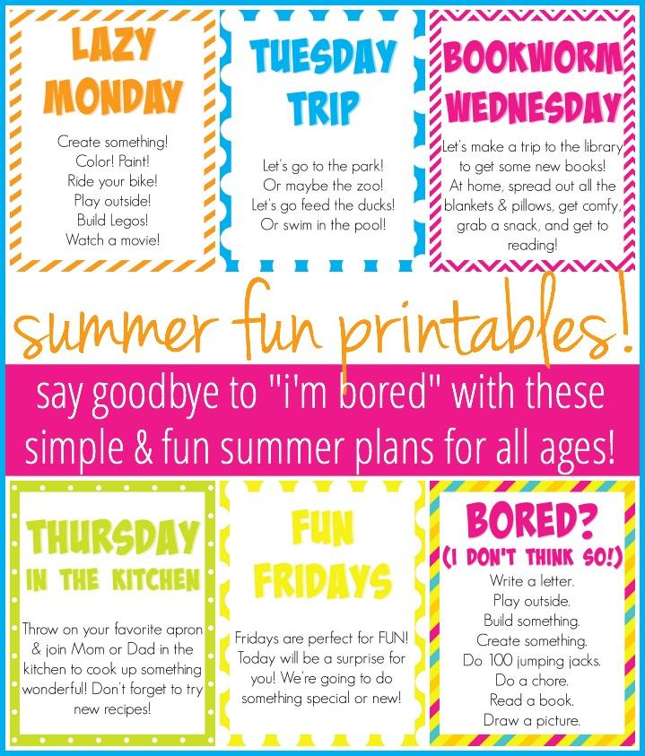summer fun printables kayseprattcom - Fun Things To Print