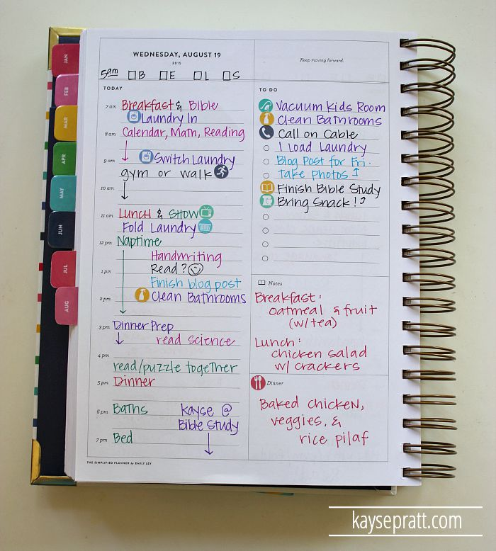 How I Use My Simplified Planner To Control All The Crazy