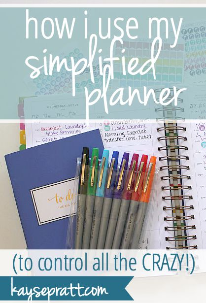 How I Use My Simplified Planner - KaysePratt.com Pinterest