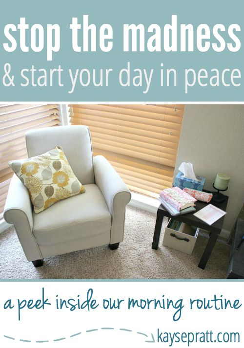 Stop the Madness & Start Your Day In Peace - KaysePratt.com