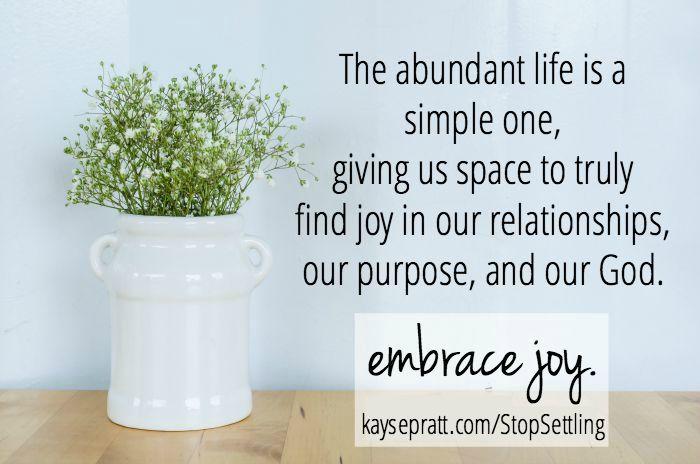 Stop Settling For Overwhelmed