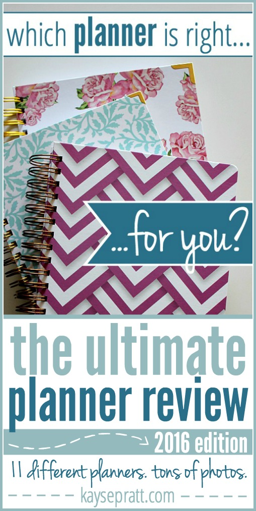 Ultimate Planner Review - KaysePratt.com Pinterest