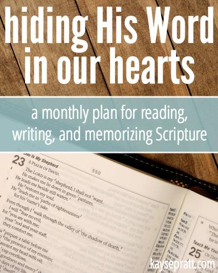 Hiding His Word In Our Hearts - KaysePratt.com