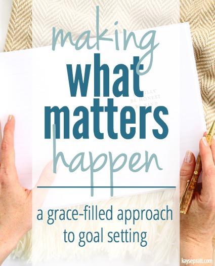 Making What Matters Happen - KaysePratt.com Pin
