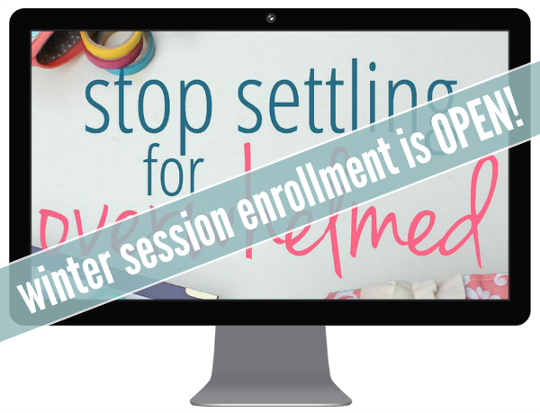 Stop Settling Winter Enrollment