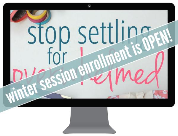 Stop Settling Winter Enrollment
