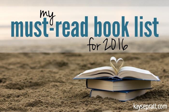 Book List 2016 - KaysePratt.com