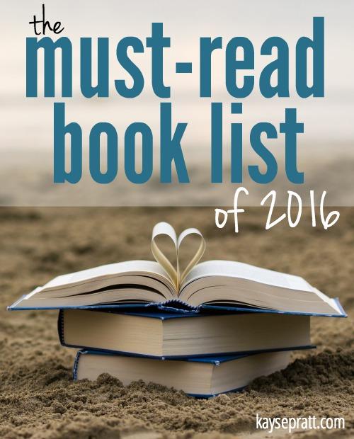 Book List of 2016 - KaysePratt.com Pinterest