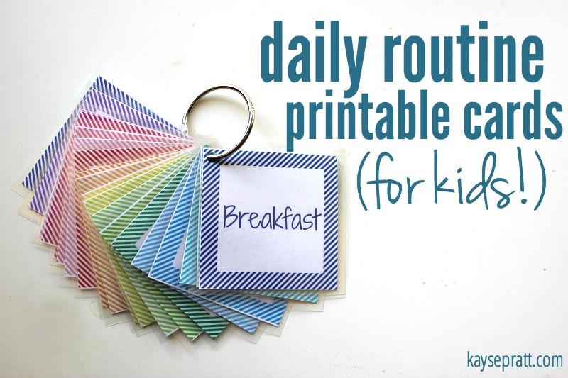 Daily Routine Printable Cards For Kids - KaysePratt.com Main