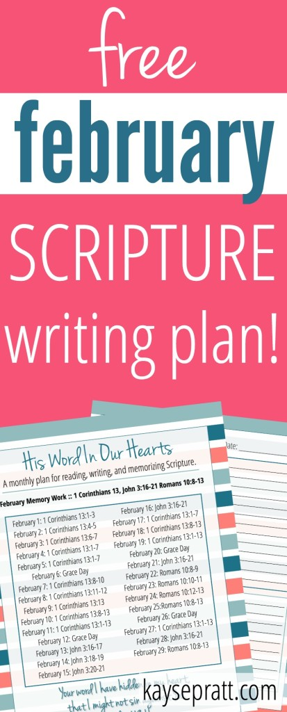 His Word In Our Hearts February - Pinterest
