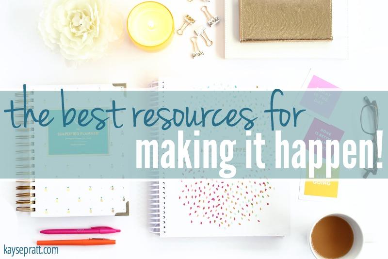 Resources For Making It Happen - KaysePratt.com