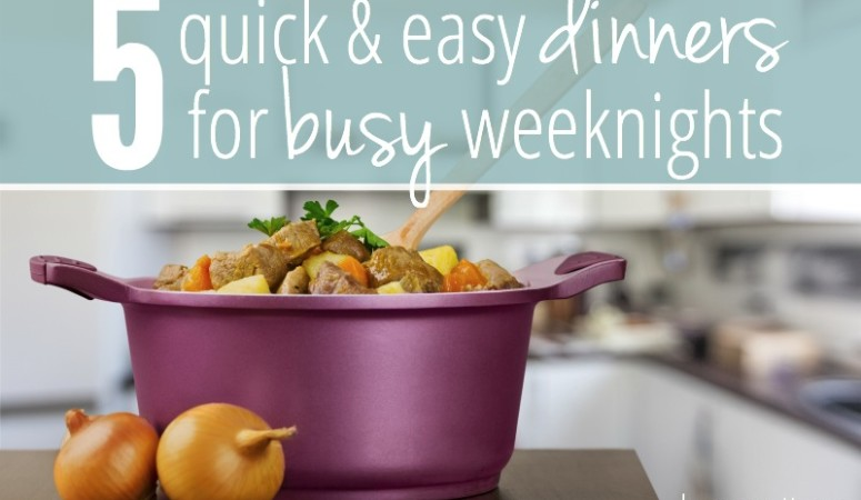 5 Quick & Easy Dinner Recipes For Those Busy Weeknights (Plus a Shopping List!)