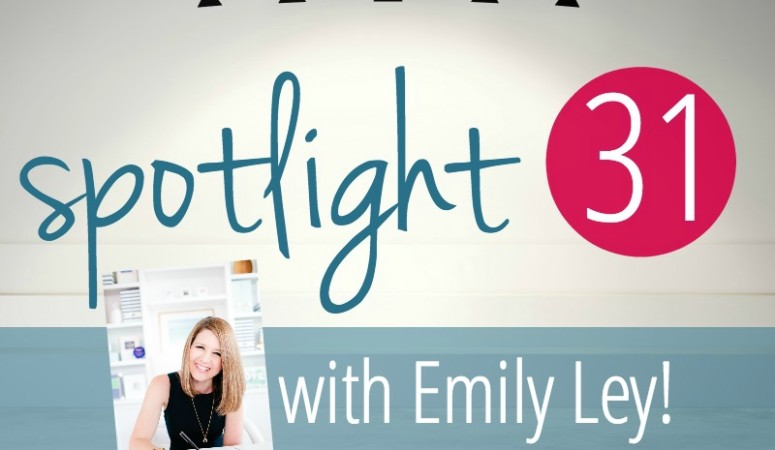 Grace, Not Perfection :: A Spotlight 31 Interview with Emily Ley