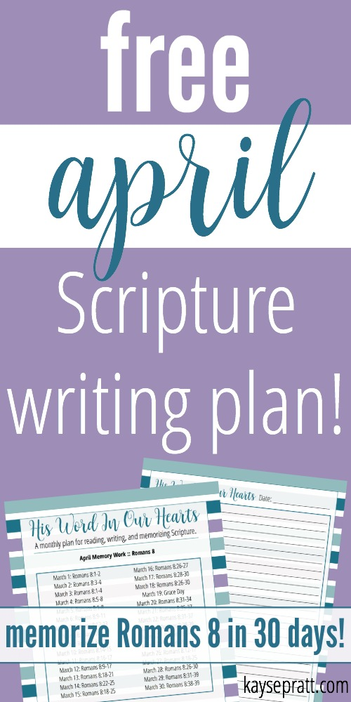 April Scripture Writing Plan - KaysePratt.com Pinterest
