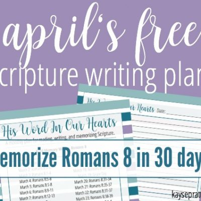 FREE Bible Reading Plan for April!
