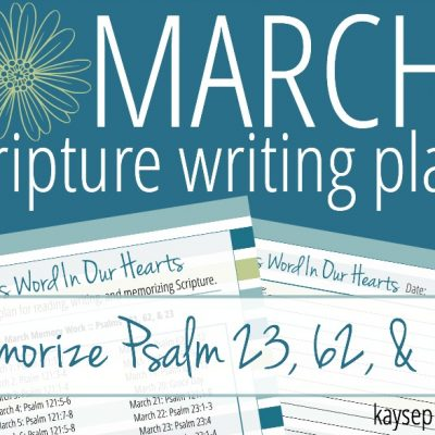 March Bible Reading & Writing Plan