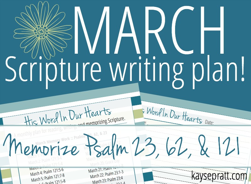 March Scripture Writing Plan - KaysePratt.com