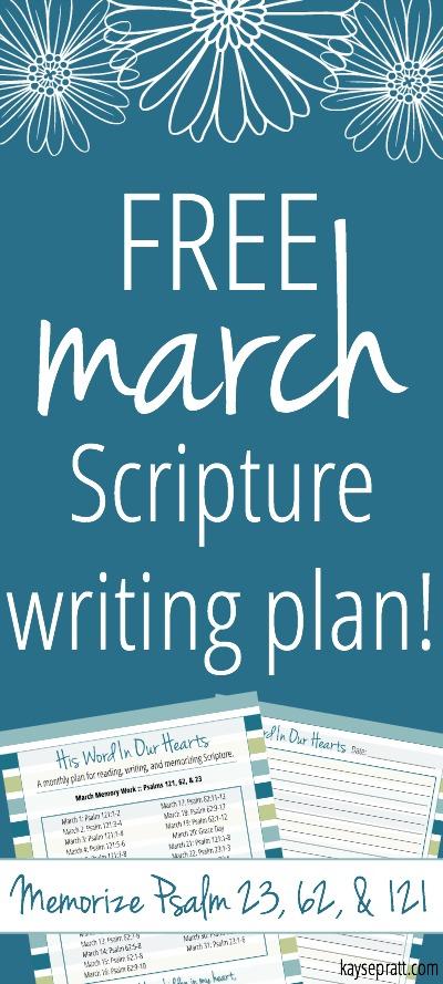 March Scripture Writing Plan - Pinterest