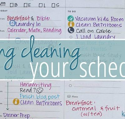 Spring Cleaning Your Schedule