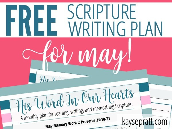 May's Scripture Writing Plan!