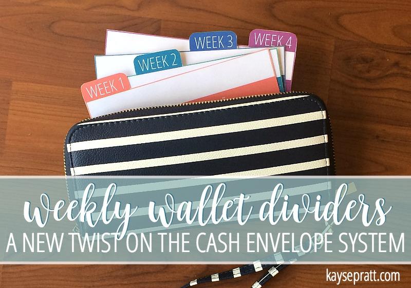 Weekly Wallet Dividers - FREE PRINTABLE - KaysePratt.com