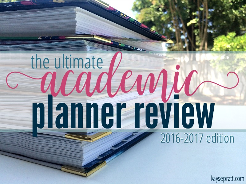 Academic Planner Review - KaysePratt.com