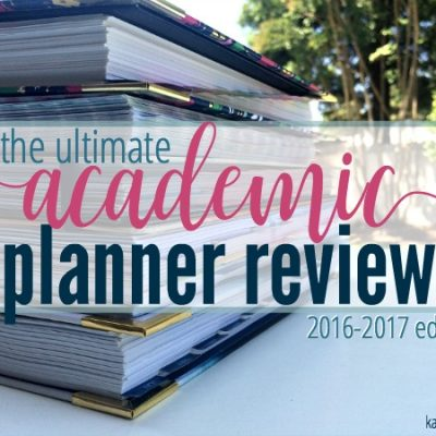The Ultimate Academic Planner Review :: 2016-2017 Edition
