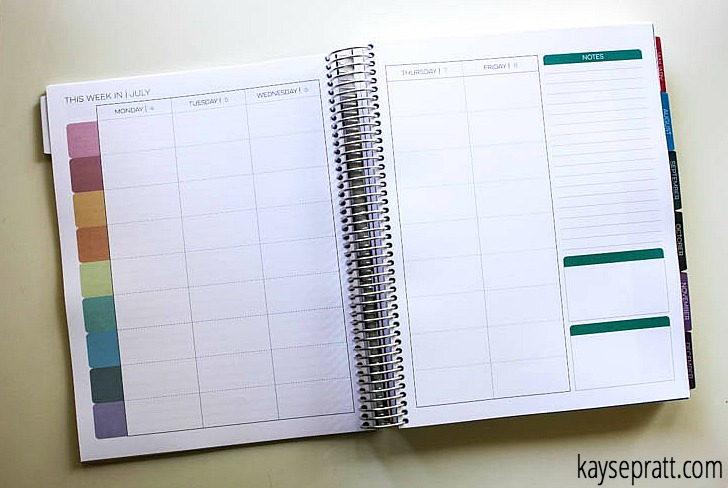 Limelife Homeschool Planner Spread - KaysePratt.com