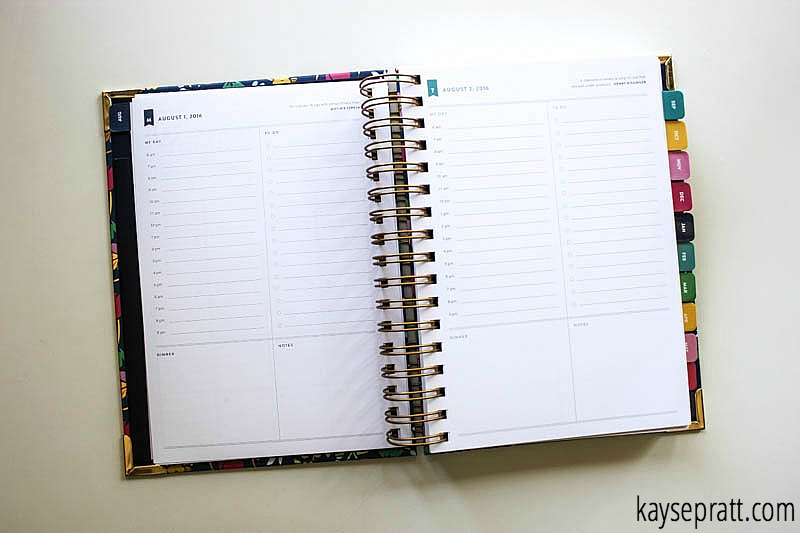 Simplified Planner Daily Spread - KaysePratt.com