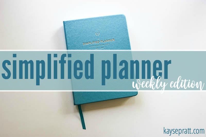 Simplified Planner Weekly - KaysePratt.com