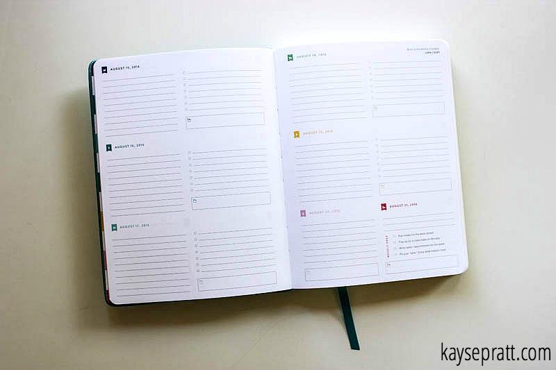 Simplified Planner Weekly Spread - KaysePratt.com
