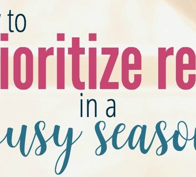 How to Prioritize Rest in a Busy Season