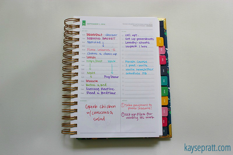 Planning System 2016 - KaysePratt.com 1
