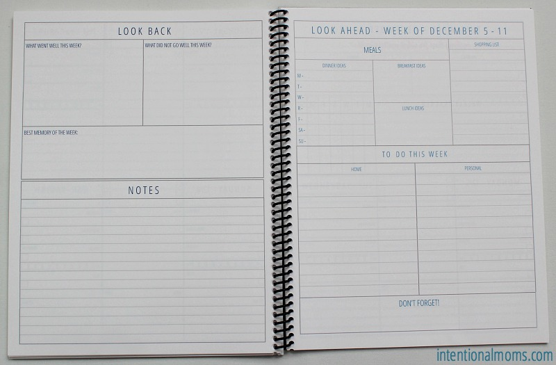 The Organized Life Planner Sneak Peek - IntentionalMoms.com