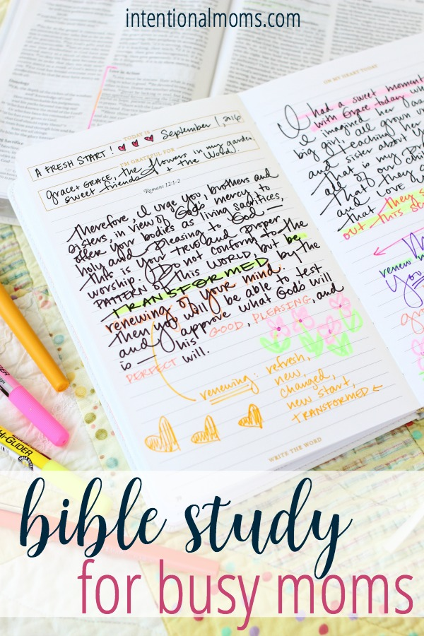 Bible Study for Busy Moms - IntentionalMoms.com