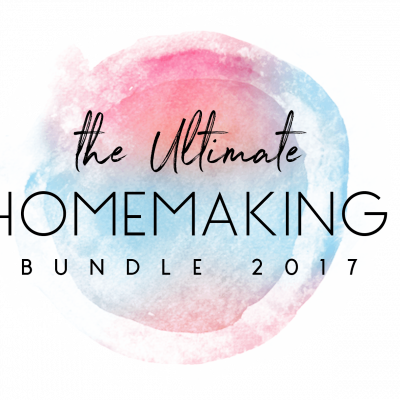 It's our favorite resource of the year!! The Ultimate Homemaking Bundle is HERE!