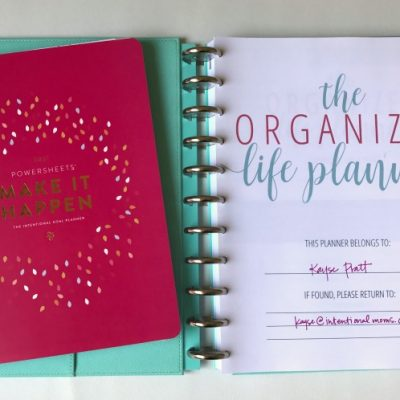 How to use your PowerSheets with your Organized Life Planner
