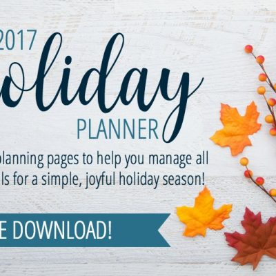 The 2017 Holiday Planner is here!