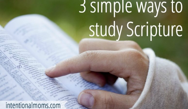 Simple ways to study Scripture in the new year