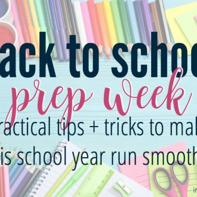 Back to School Week :: Preparing your heart for a new school year
