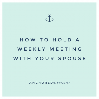 How to hold a weekly planning meeting with your spouse