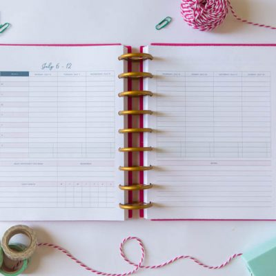 How to create a weekly planning habit