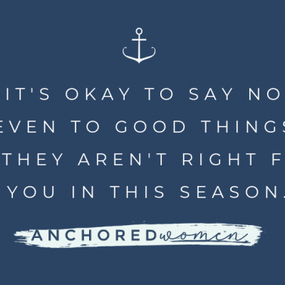 """How to say """"no"""" – even to good things."""
